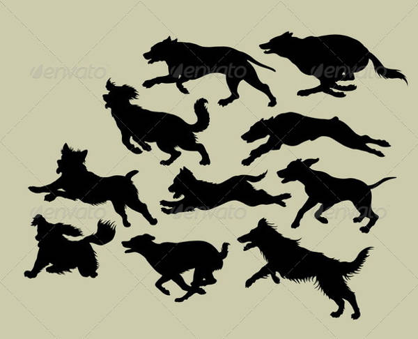dog running silhouette1