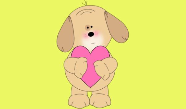 Dog Valentine Clipart
