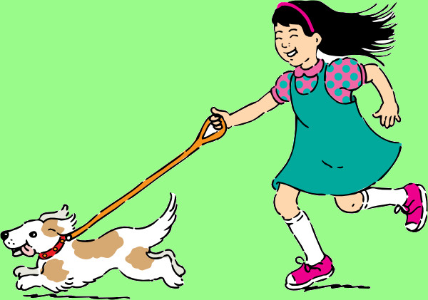 Dog Walking Clipart