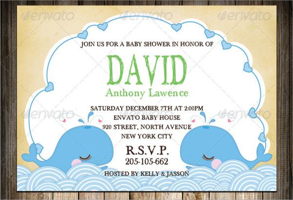 Dolphin Baby Sprinkle Invitation