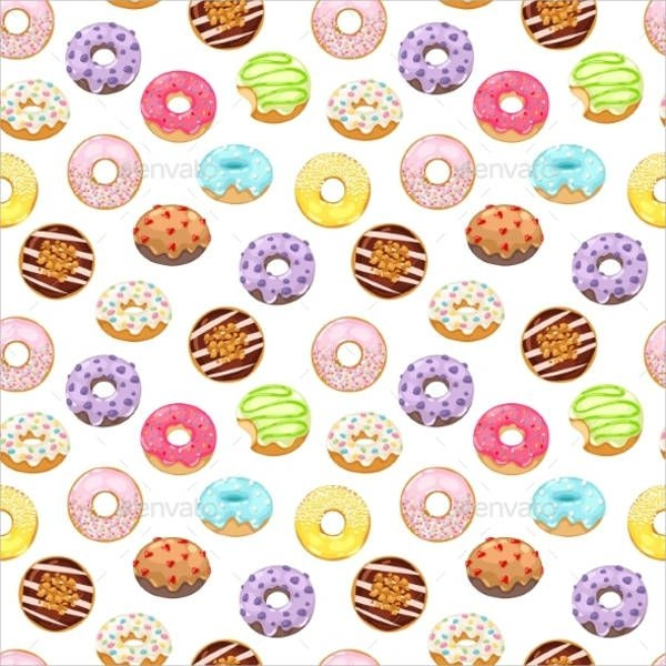 donuts vector pattern