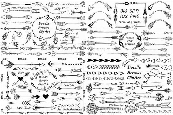Doodle Arrow Clip Art