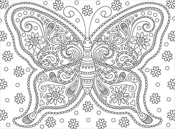 Download Butterfly Coloring Page