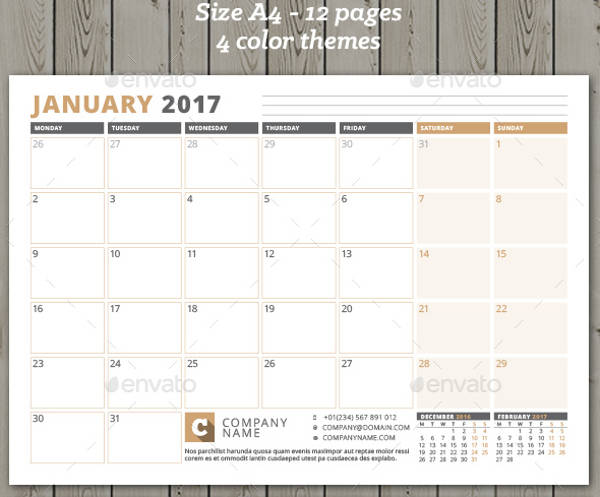 Monthly Calendar Design Creative : Monthly calendar designs jpg psd ai illustrator