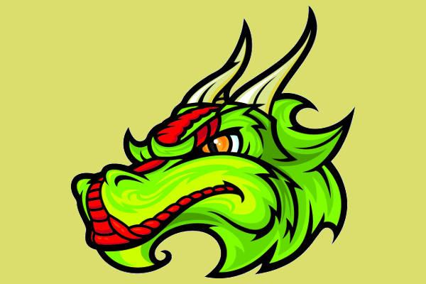 Dragon Head Clipart
