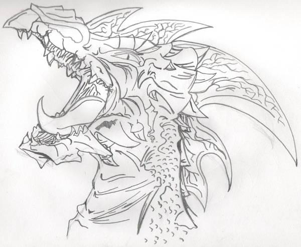 Dragon Line Drawing