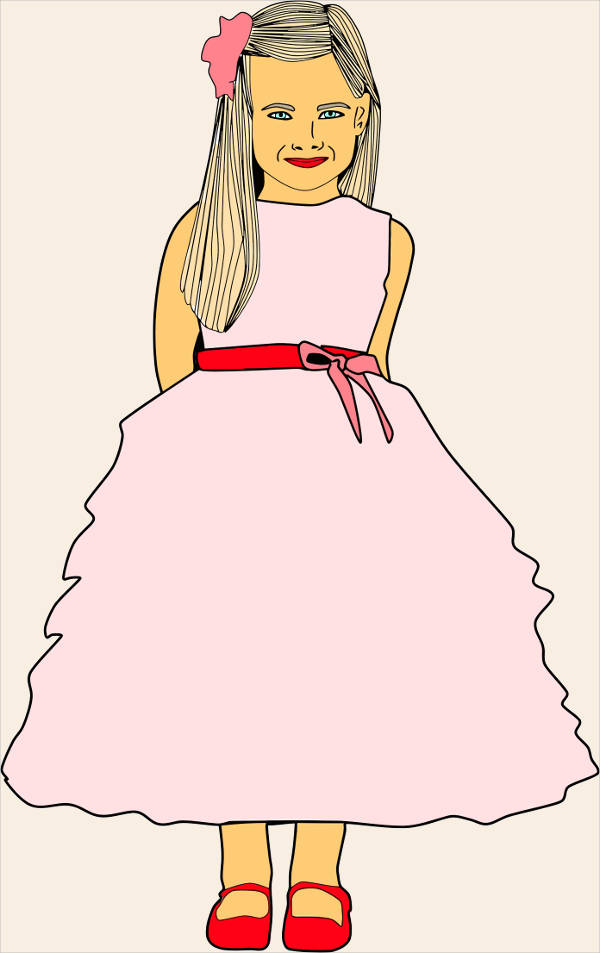 Dressed up Girl Clipart