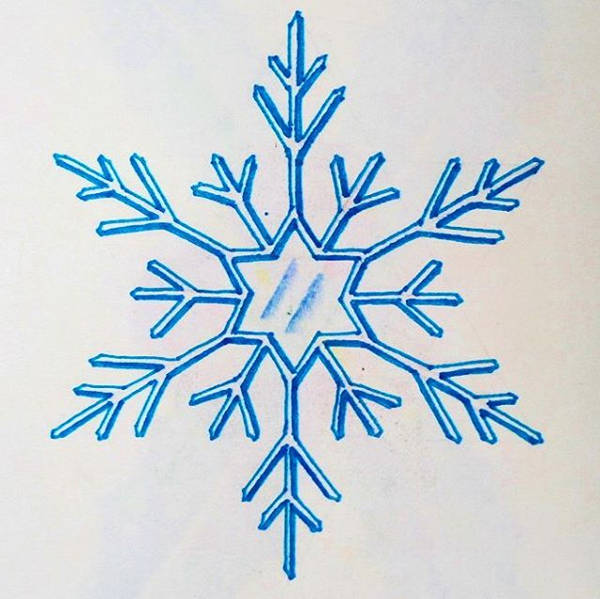 Easy Snowflake Drawing