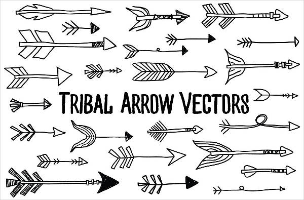 Editable Tribal Arrow Vectors