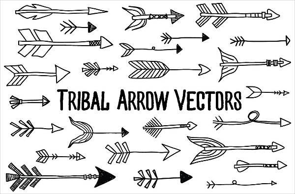 editable tribal arrow vectors