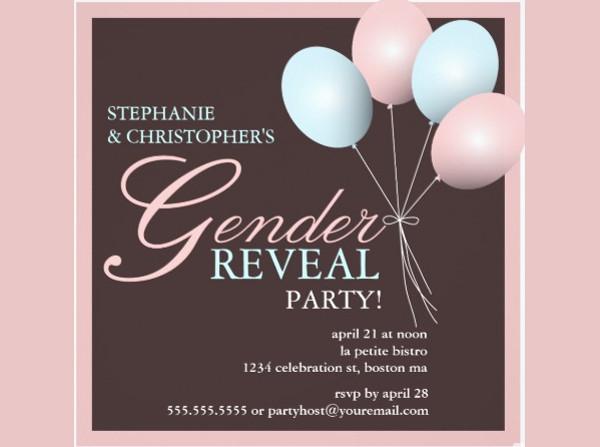 Elegant Gender Reveal Invitation