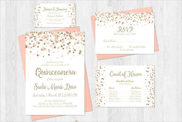 Elegant Invitation for Quinceanera