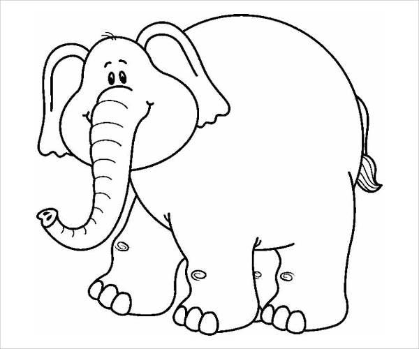 Elephant Outline Clip Art