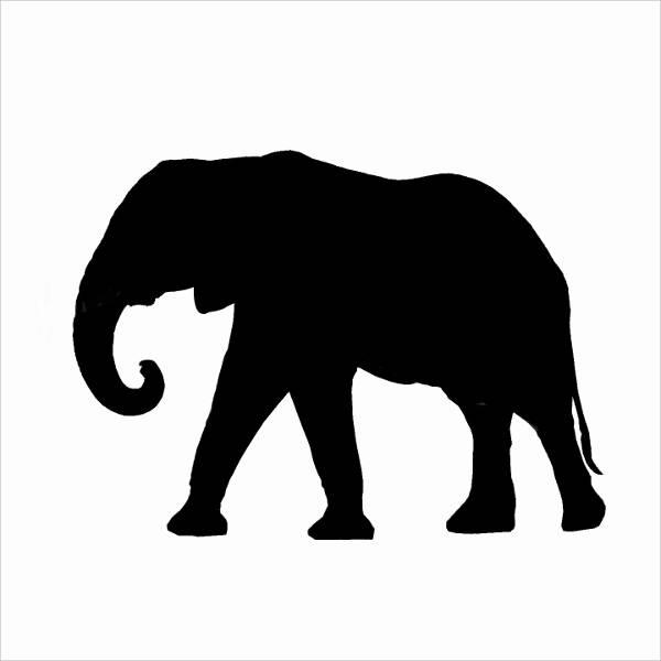 Elephant Silhouette Clip Art