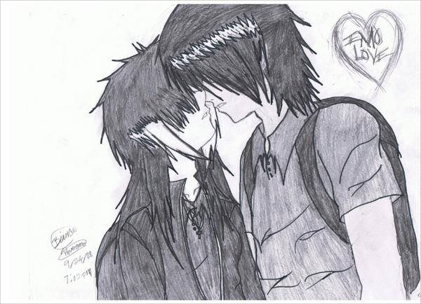 Emo Love Drawing