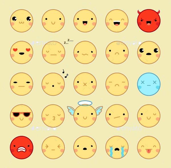 Emoji Emoticons Set Design