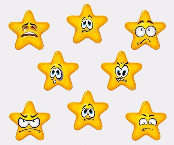 Emotional Star Icons
