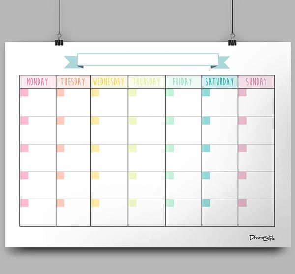 Excel Blank Calendar
