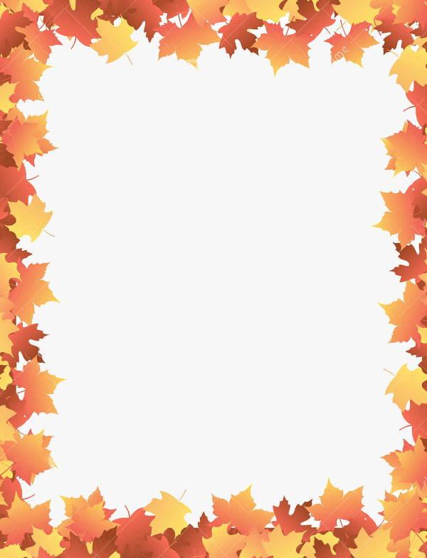 Fall Border Clip Art