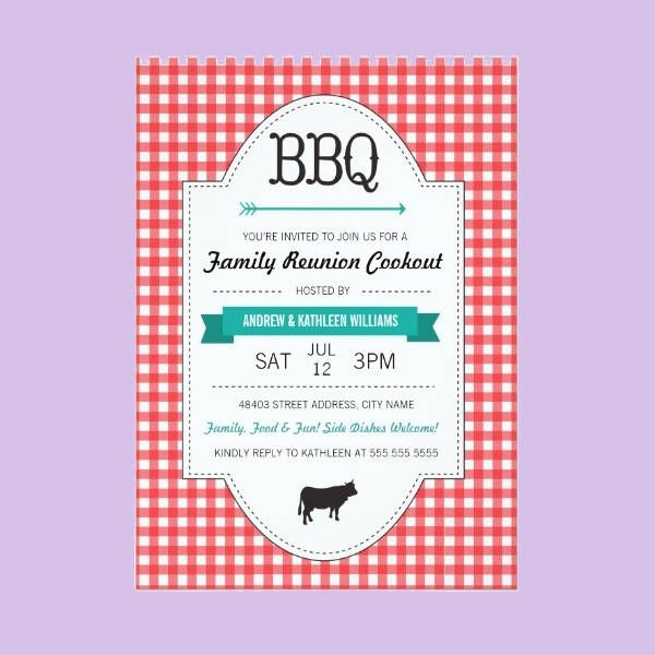 Family Reunion BBQ Invitation