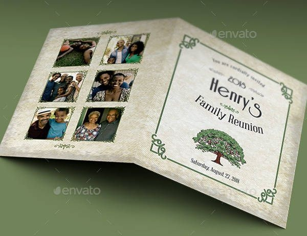 Family Reunion Card Invitation