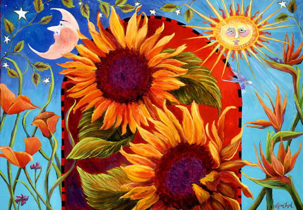 Famous Sunflower Painting