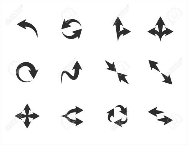 fancy arrow vector