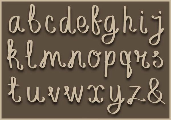 fancy cursive alphabet letters