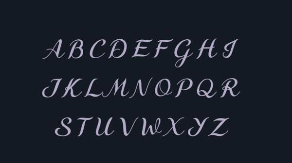 Fancy Cursive Capital Letters
