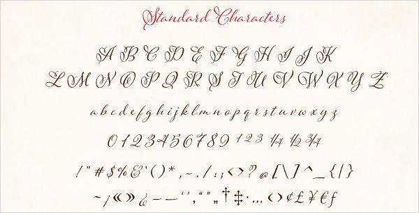 fancy cursive script letters