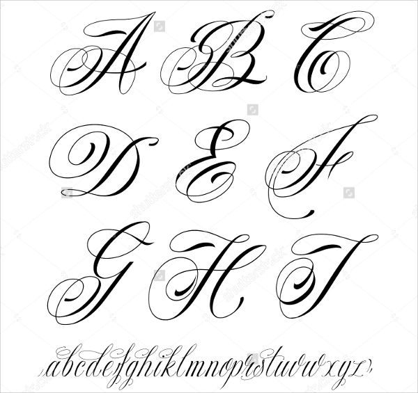 Fancy Cursive Tattoo Letters