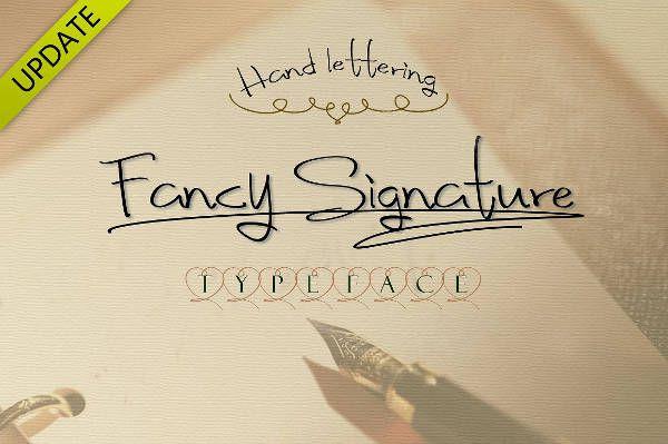 Fancy Signature Font