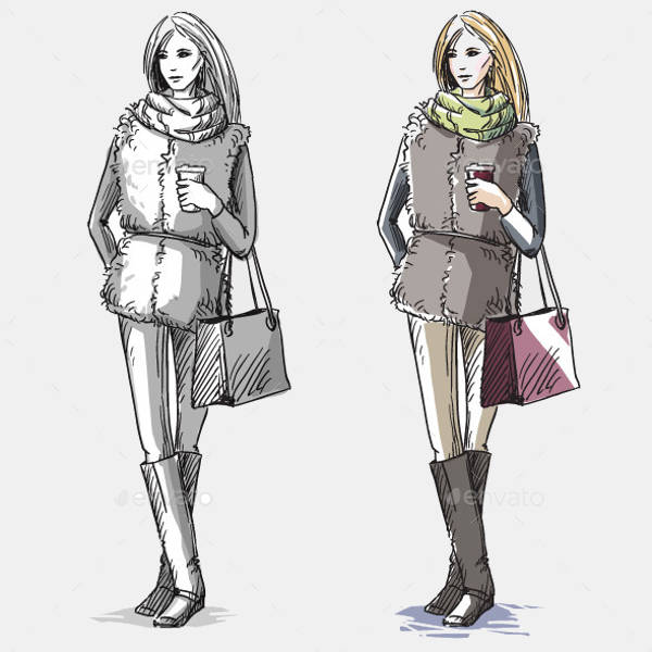Fashion Winter Illustration