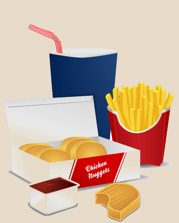 Fast Food Menu Clipart