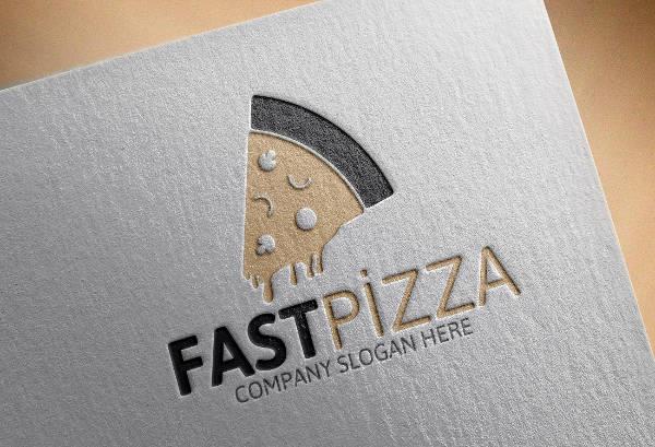Fast Pizza Logo Design
