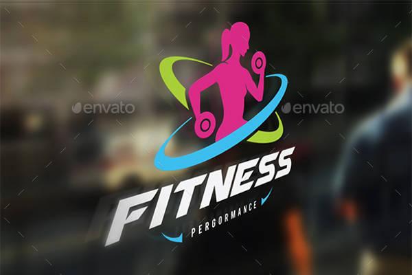 Female Fitness Logo Design