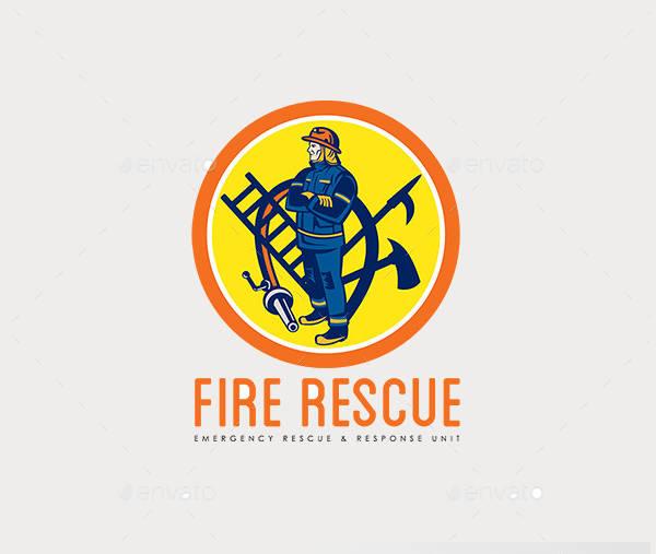 Fire Rescue Logo Design