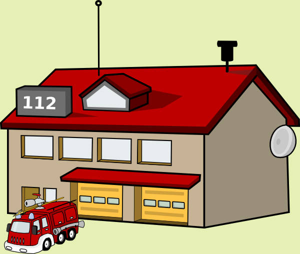 Fire Station Clipart