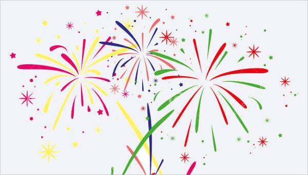 Fireworks vector. Cliparts eps jpg