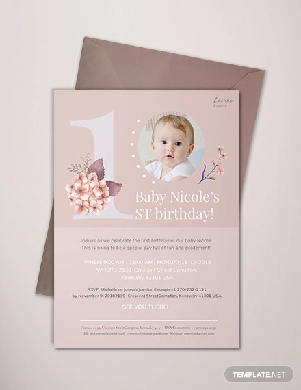 first birthday invitation1