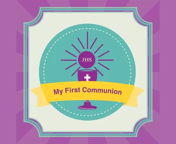 First Communion Invitation Background
