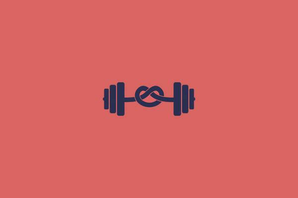 Fitness Dumbbell Logo Design