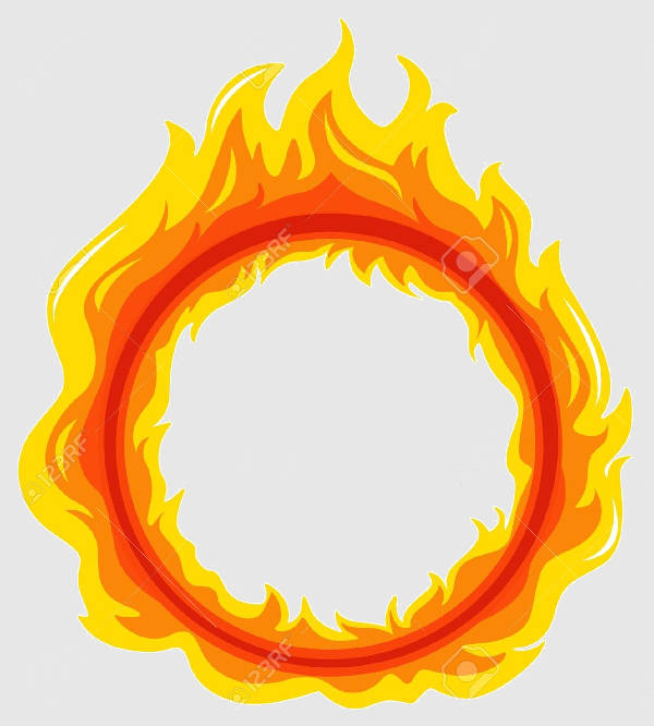 Flame Circle Vector