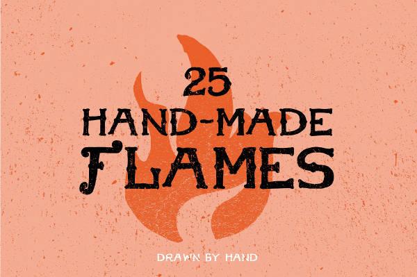 Flame Handmade Vector