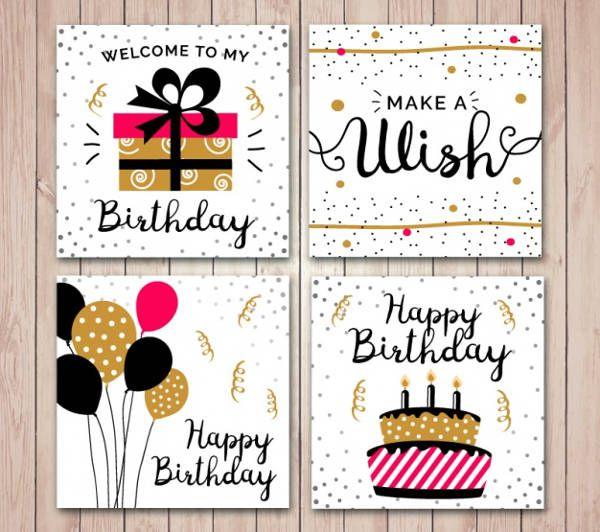 Flat Birthday Card Idea