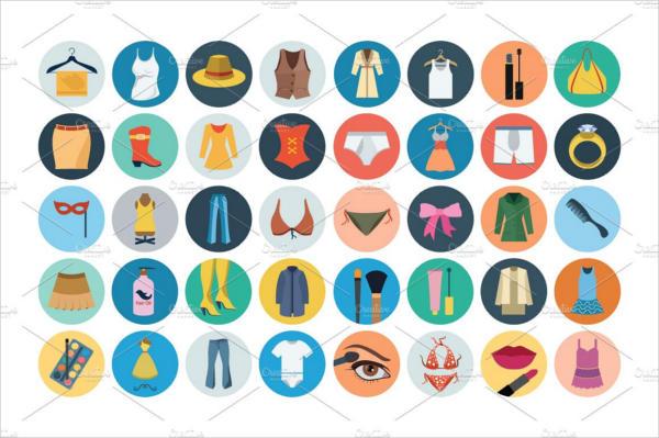 Flat Fashion Icons