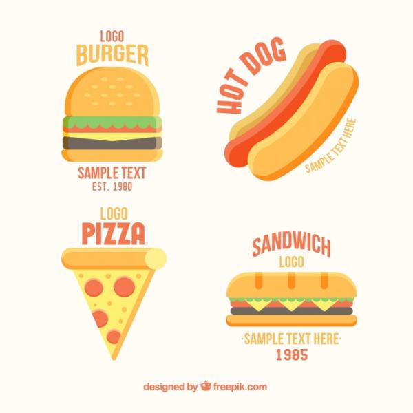 Flat Fast Food Logo