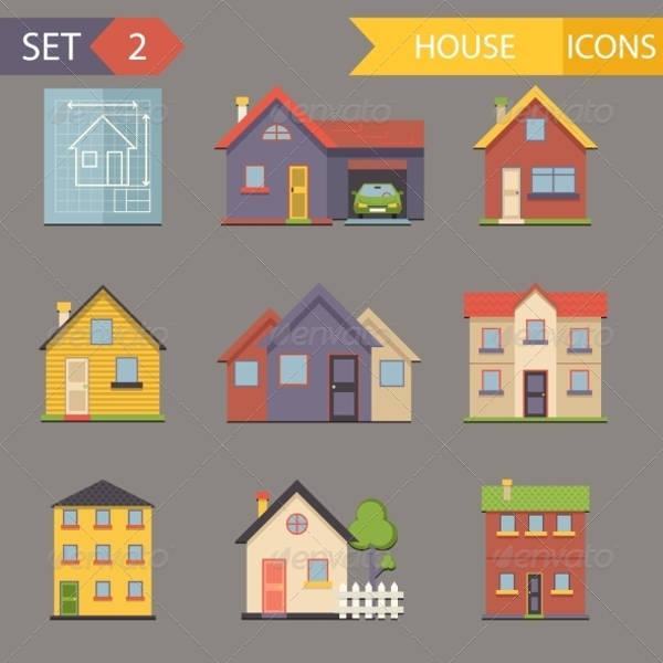 Flat House Icons