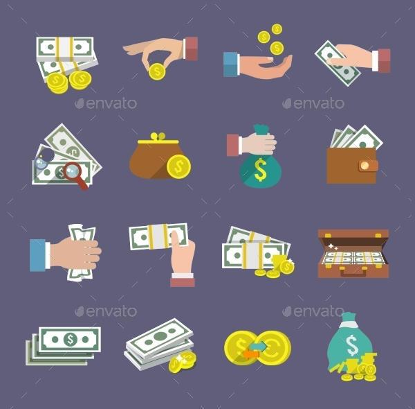Flat Money Icons