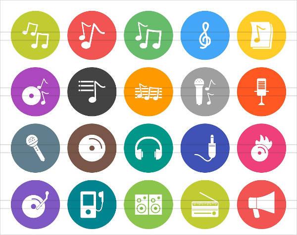 Flat Music Icon Set